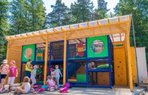 atrakce prolézačky pro děti v areálu skalka family park ostrava