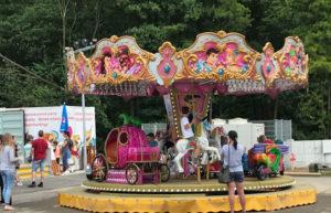 atrakcepohádkový koleotoč pro děti v areálu skalka family park ostrava
