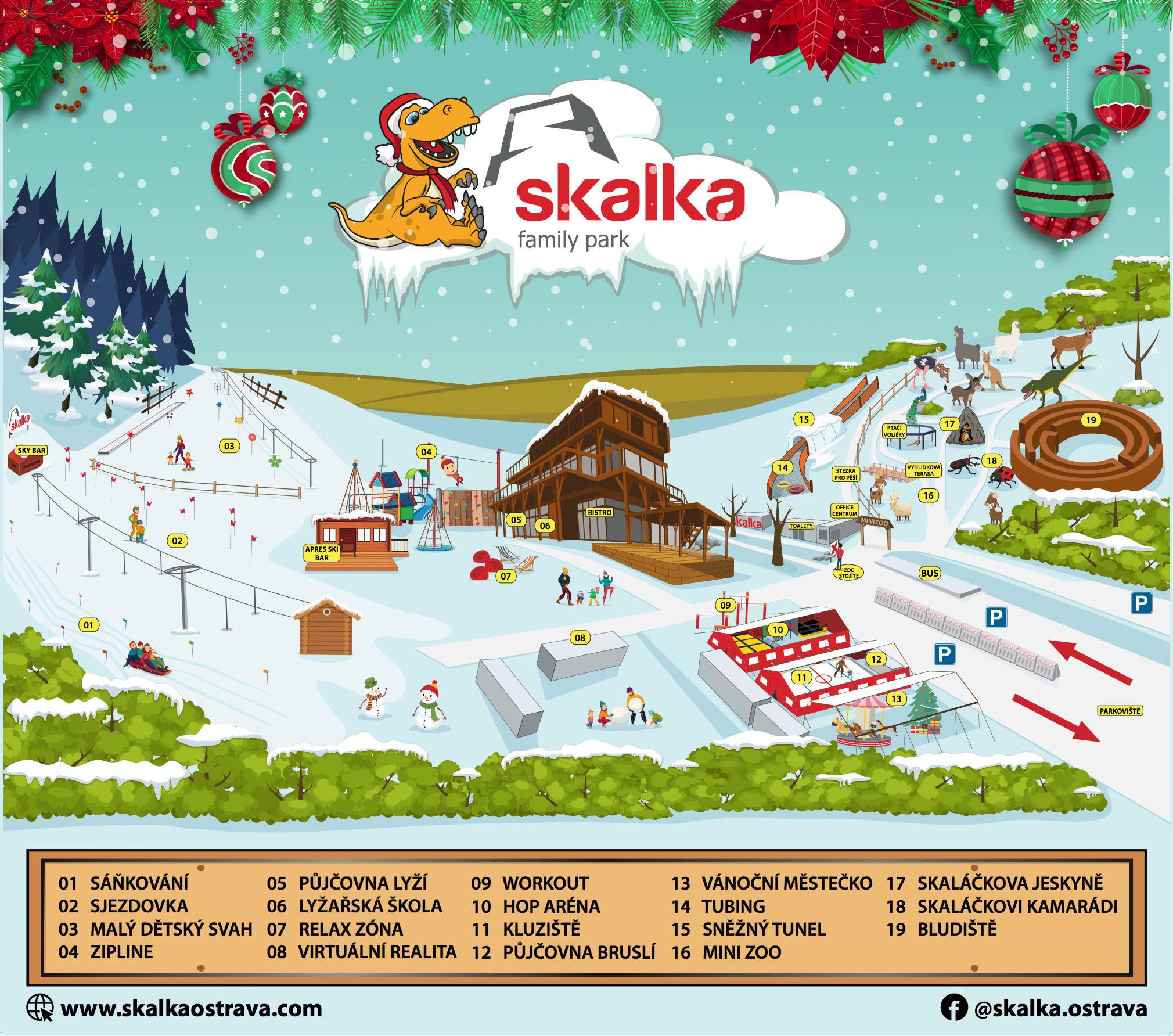 Zimní aktivity - Skalka family park Ostrava